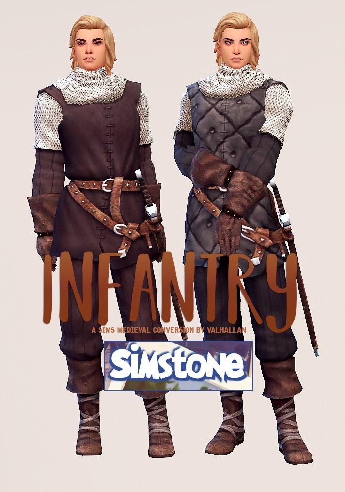 50ed2a4e543b Скачайте средневековый наряд пехотинца для The Sims 4. Отыгрывайте  средневековье, рыцарей, разбойников или варваров, либо же просто  используйте эту одежду ...